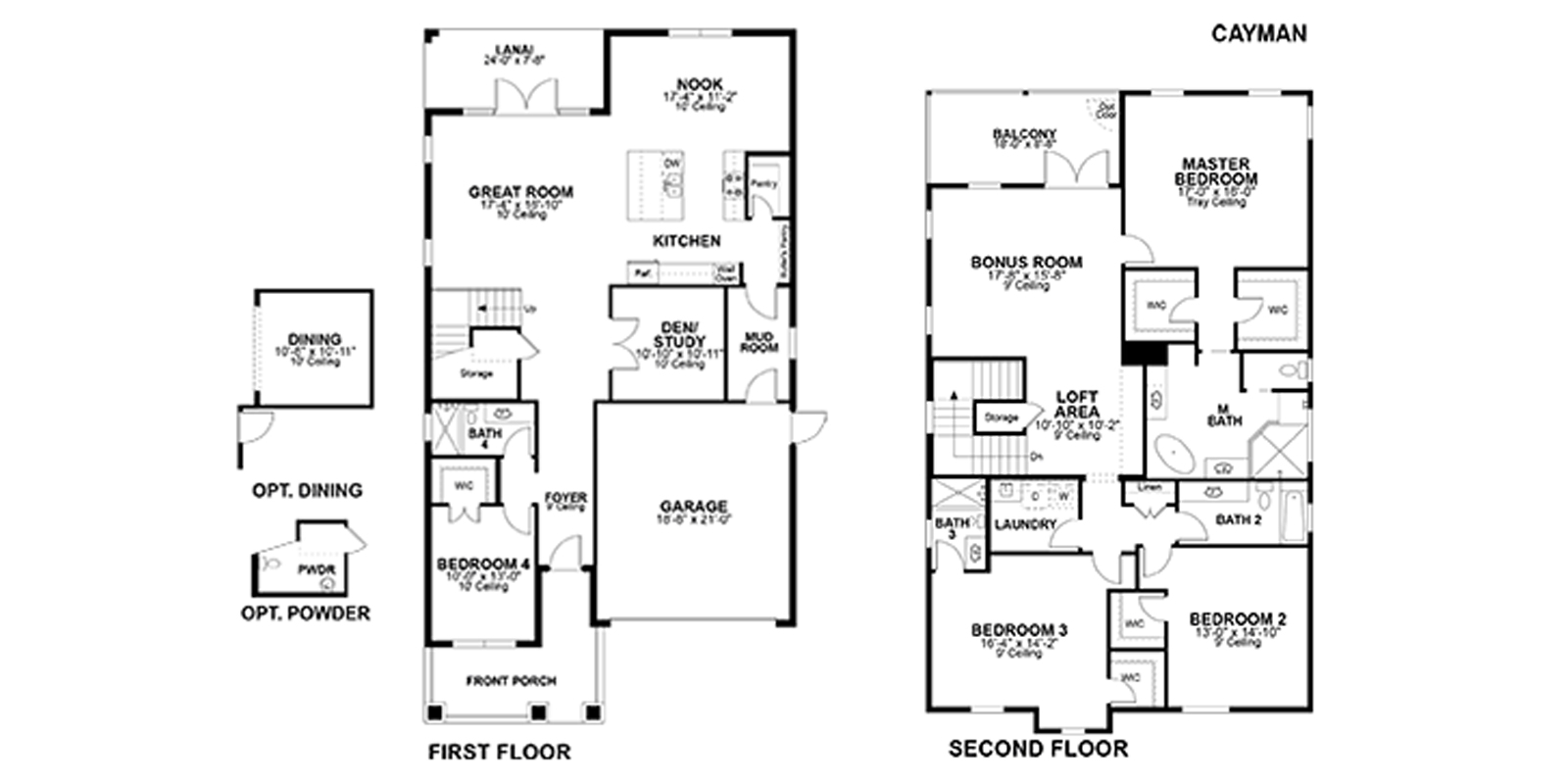 New Legacy Homes | Cayman Floorplan