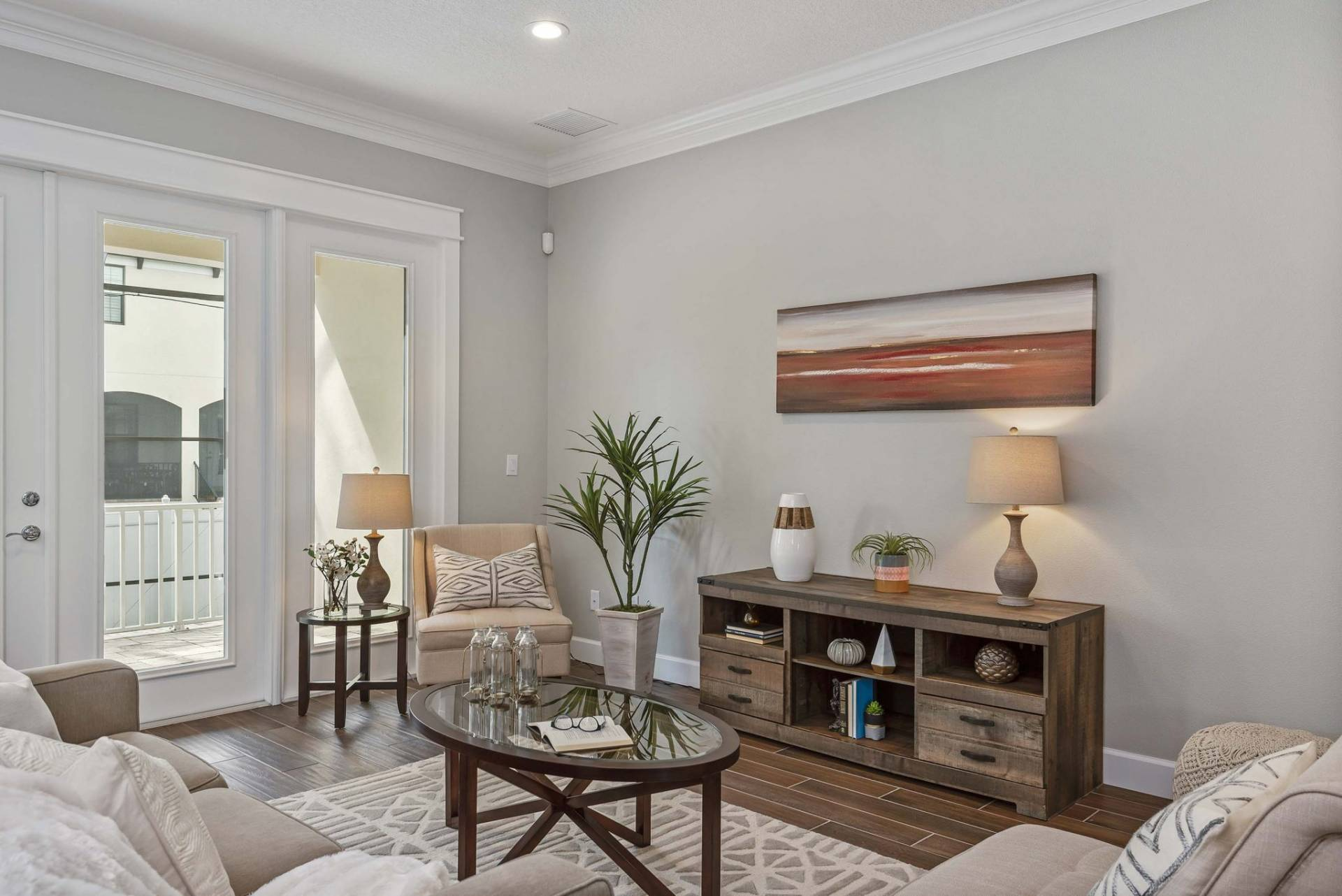 living room designed and built by New Legacy Homes, the best South Tampa homebuilder
