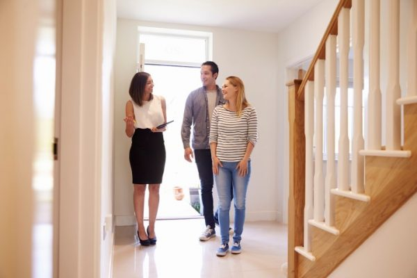 new homeowners getting a tour