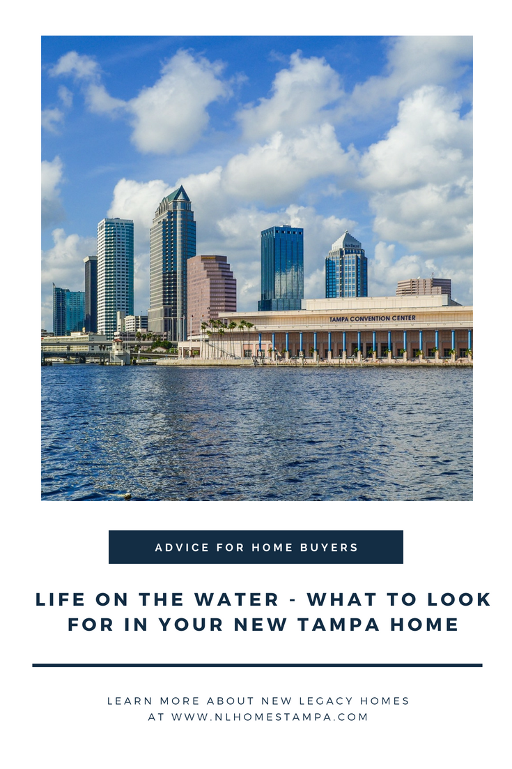 graphic that says advice for home buyers life on the water