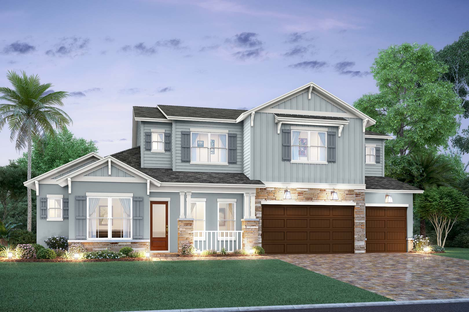 exterior front elevation of a New Legacy Home