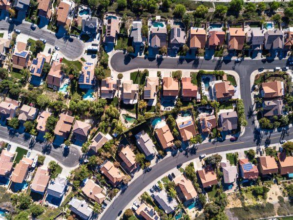 a neighborhood birds eye view