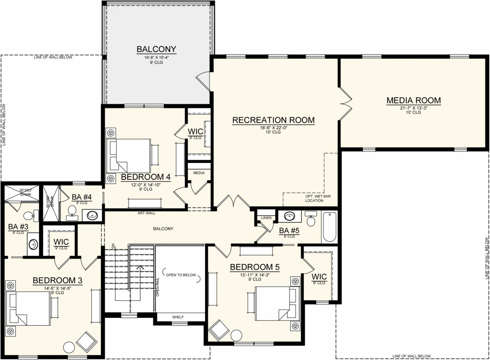 floor plan of big house designed by New Legacy Homes