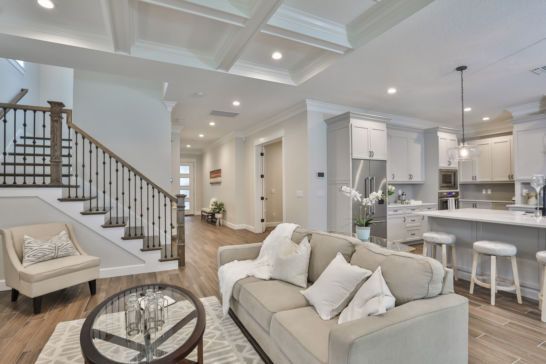 great room designed and built by New Legacy Homes, the best South Tampa homebuilder