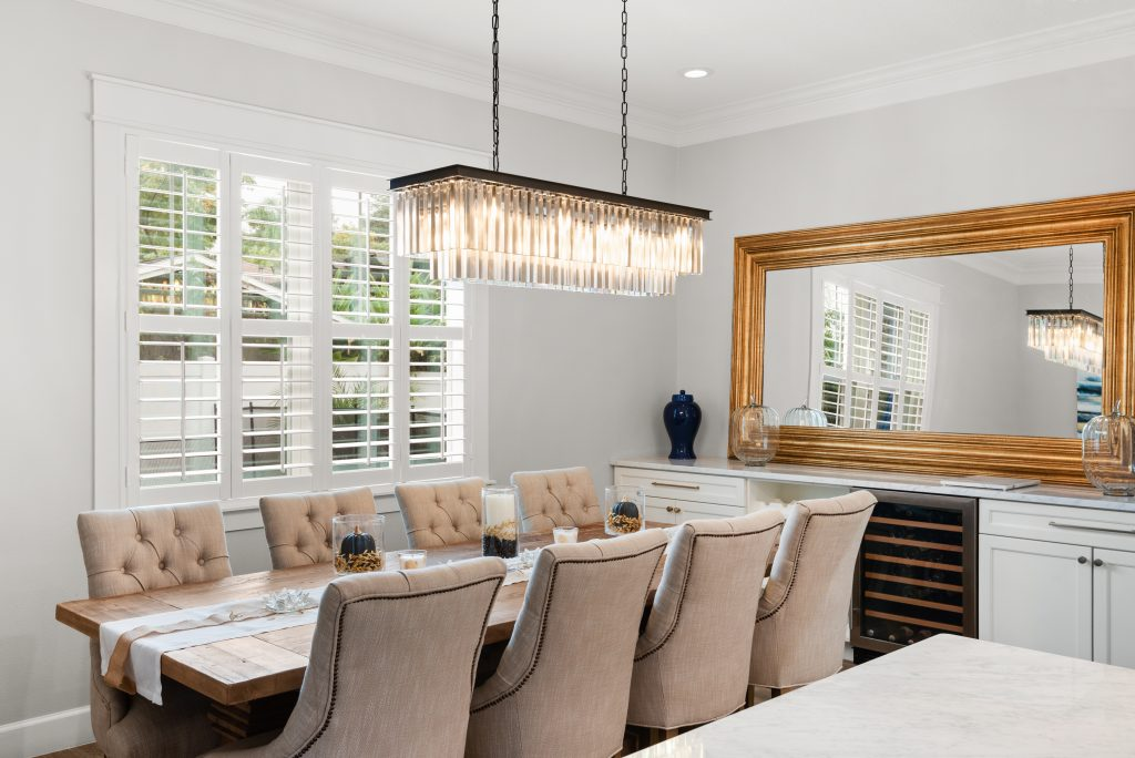 dinning room designed and built by New Legacy Homes, best of South Tampa homebuilder