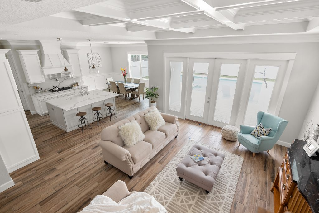 great room designed and built by New Legacy Homes, best of South Tampa homebuilder