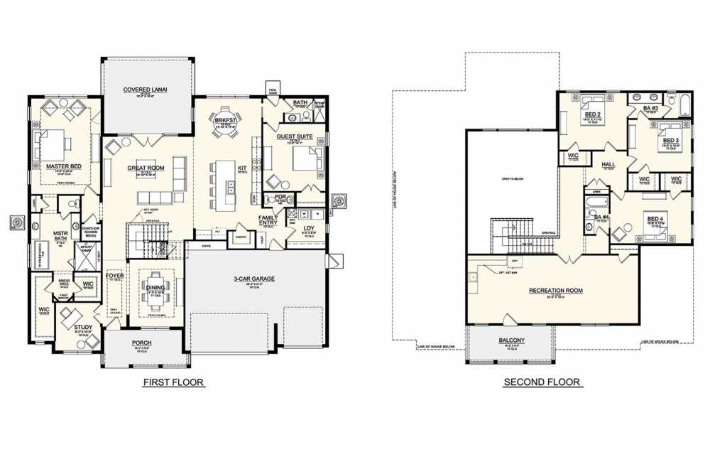 New Legacy Homes floor plan for Martinique