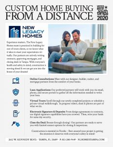 custom home buying from a distance experience