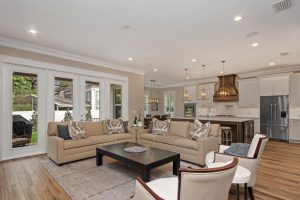 nice open floor plan designed by New Legacy Homes in Tampa, representing best lighting
