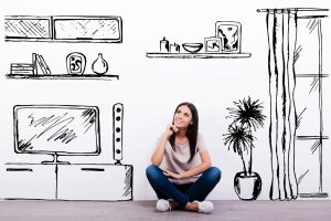 a homebuyer thinking of her future home