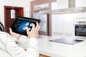 an iPad representing energy efficient appliances