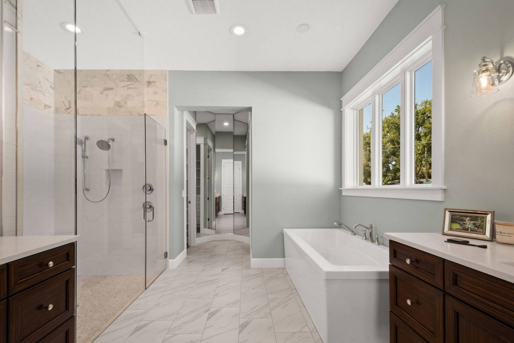representing shower vs bathtub